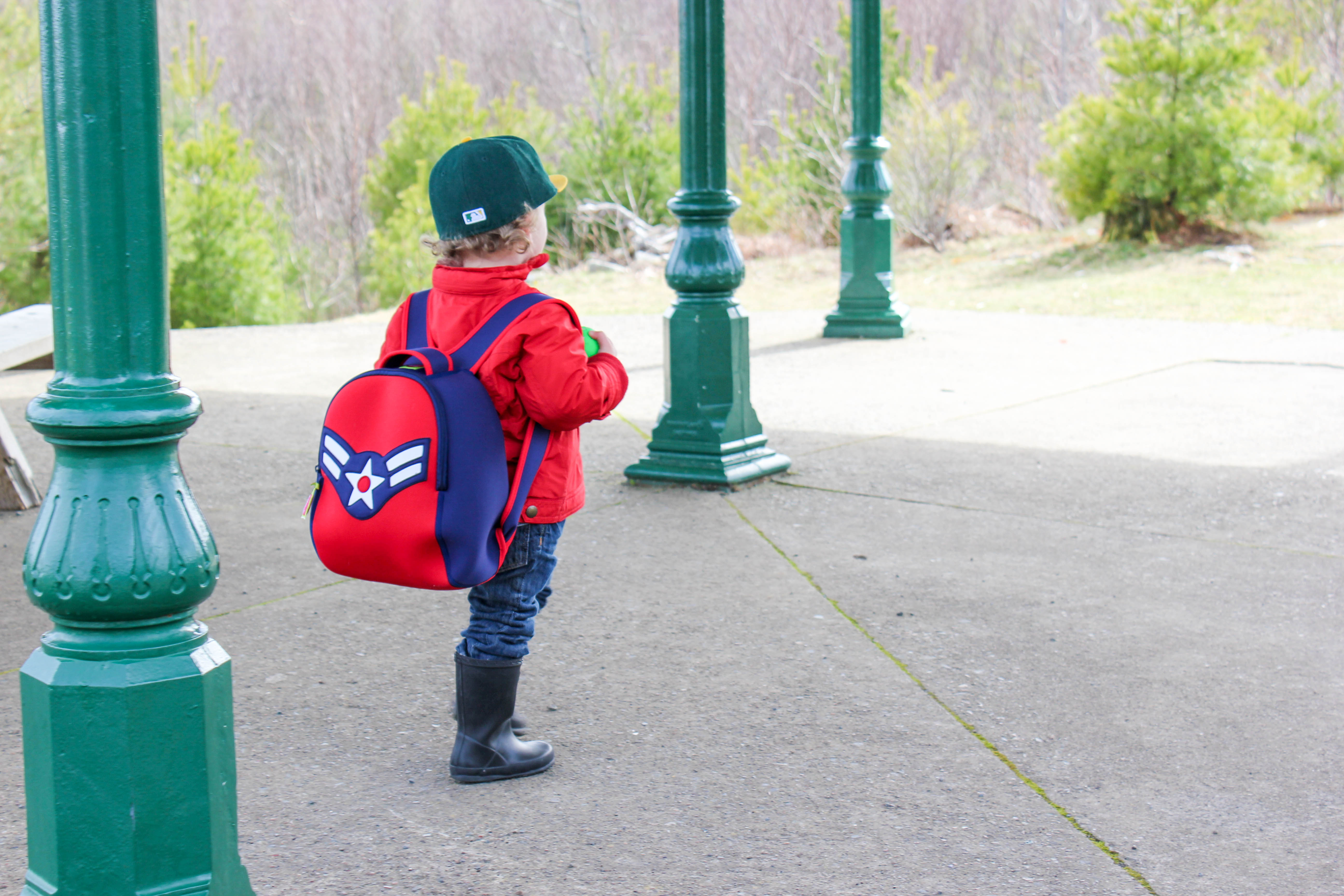 an afternoon at the park featuring dabbawalla bags  little blue  - we love dabbawalla bags because they're the perfect size for jack the verylight weight material makes it easy for him to carry on his back